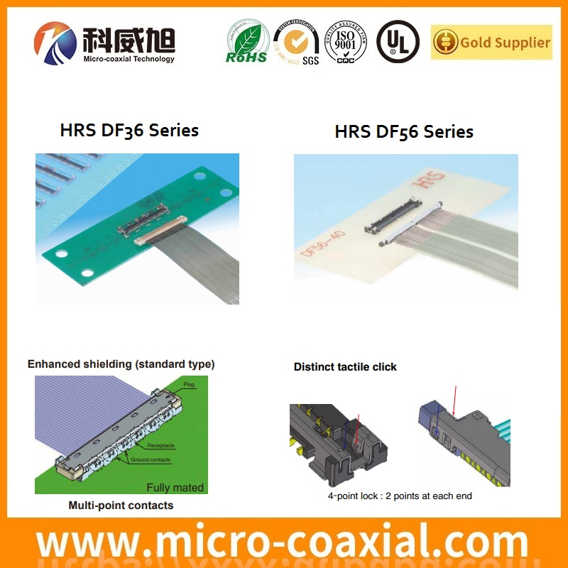 HRS thin wire coaxial Board-to-Fine Coaxial Cable Connectors