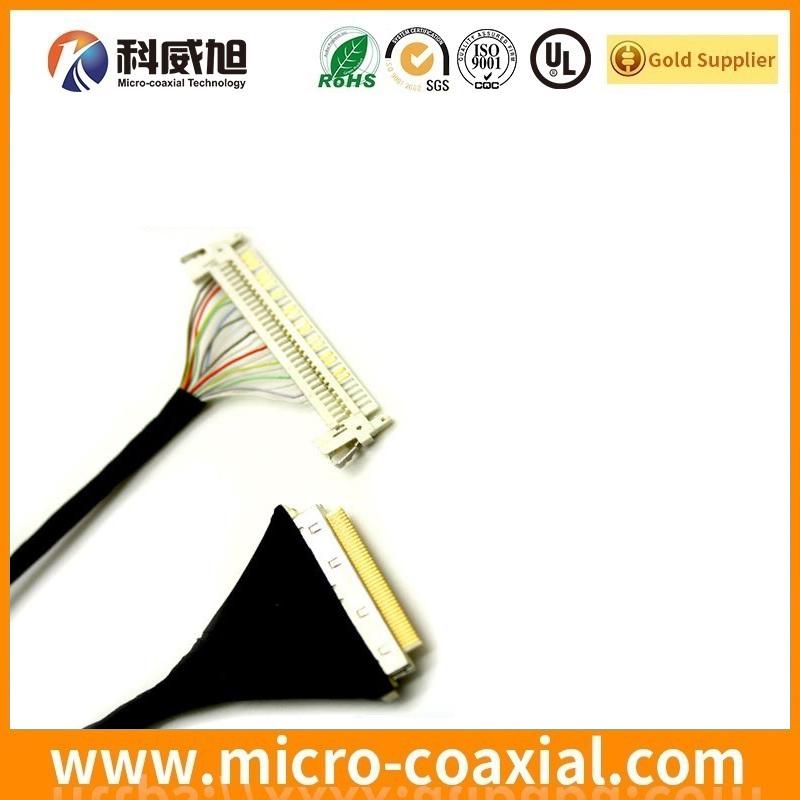 custom DF36A-15S-0.4V(55) MCX LVDS cable I-PEX 20790-060E-02 LVDS eDP cable manufactory