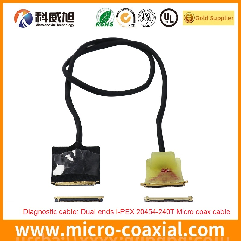 custom I-PEX 20373-010T-03 micro-miniature coaxial LVDS cable I-PEX 20498-026E-41 LVDS eDP cable Manufacturing plant
